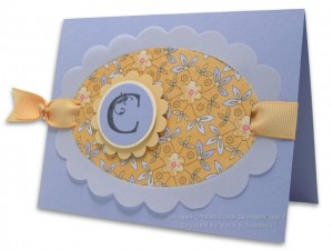 Card with Monogram